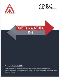 Cover of the Poverty in Australia 2016 report.