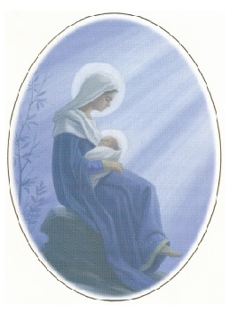 Image of Mary with Christ child on her lap.