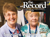 Thumbnail: The Record, Images of two Vinnies volunteers.