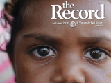 Thumbnail: The Record, close-up of the eyes of an Aboriginal child.