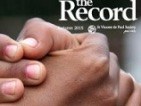 Thumbnail: The Record, close-up of two hands clasped together.