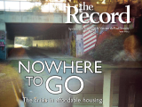 Thumbnail: The Record, image of a driveway with car in the garage, text: Nowhere to go.