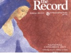 Thumbnail: The Record, artwork of woman wearing a blue habit.