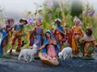 Thumbnail: figurines depicting the birth of Christ.