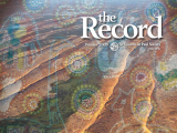 Thumbnail: The Record, image of desert landscape with Indigenous painting superimposed.