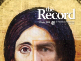 Thumbnail: The Record, icon of a Christ figure with the eye of a different person superimposed on the painting.