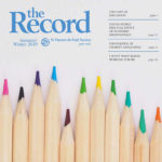 The Record cover - image of coloured pencils.